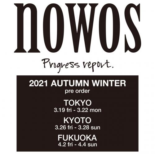 nowos 2021autumn&winter collection preorderのご案内